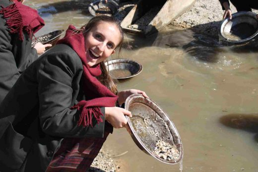 Italian Student's Sovereign Hill Excursion