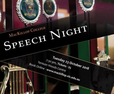Speech Night – 23 October 2018
