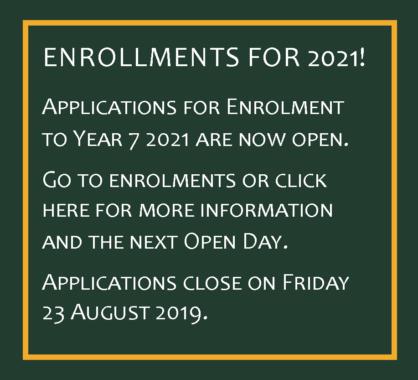 Enrolments for 2021
