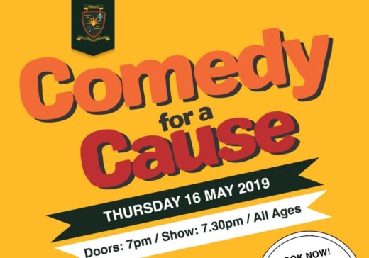 Comedy for a Cause – Thursday 16 May – Tickets available here