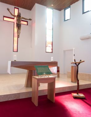 Our acknowledgement of country plaque in the Chapel of Saint Mary of the Cross