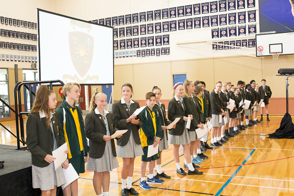 2018 Investiture – Year 9 Class Captains