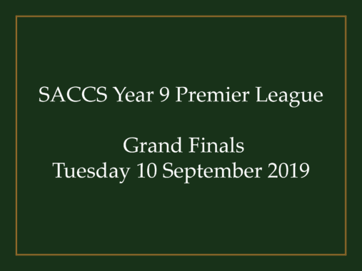 SACCSS Year 9 Premier League Grand Finals