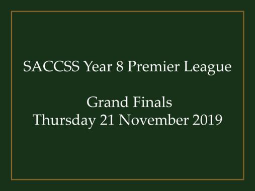 SACCSS Year 8 Premier League Grand Finals