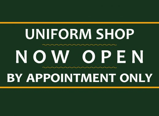 Uniform Shop by Appointment Only