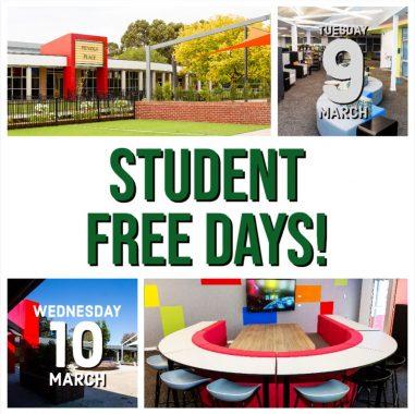 Student Free Days Term 1 2021
