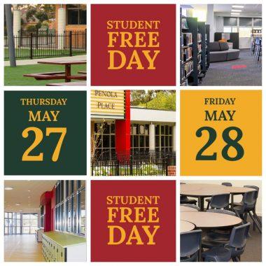 Important Dates Thursday 27 May – Friday 28 May 2021